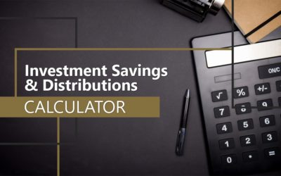 Investment Savings and Distributions Calculator