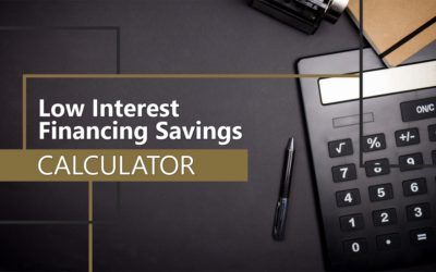 Low Interest Financing Savings Calculator
