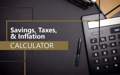 Savings, Taxes, & Inflation Calculator