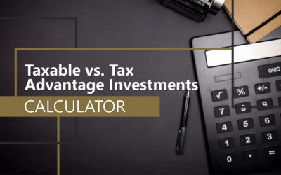Taxable vs. Tax Advantaged Investments Calculator
