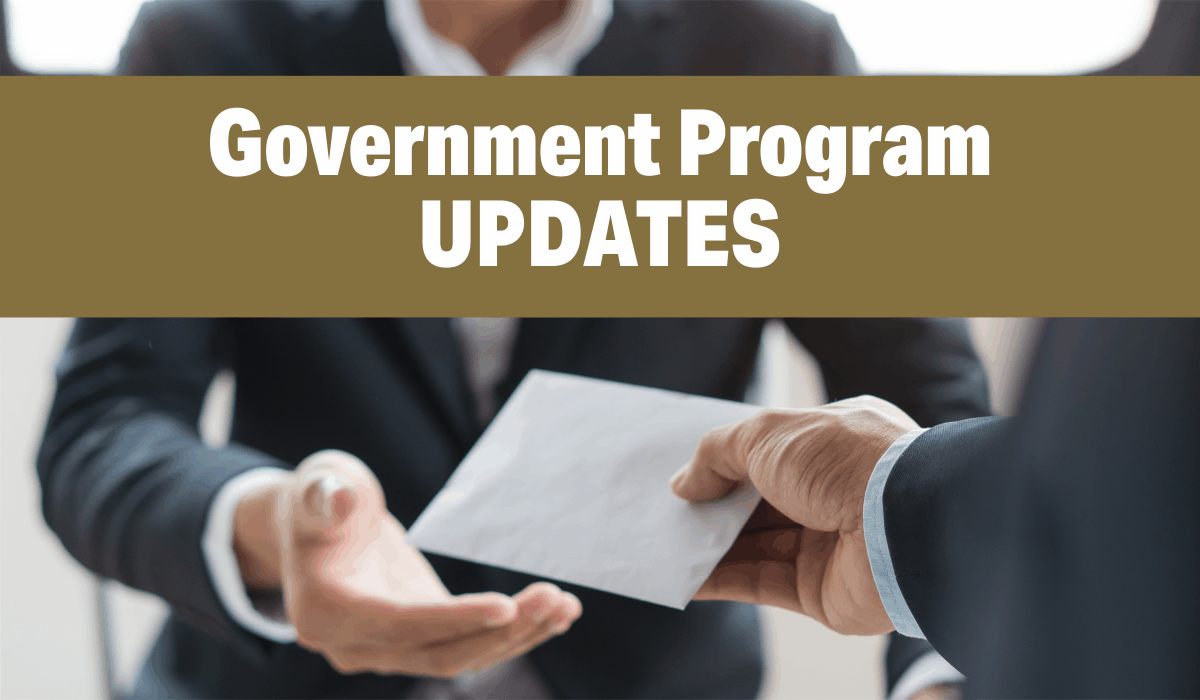 Government Program UPDATES