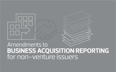 Amendments: Business Acquisition Reporting for Non-Venture Issuers